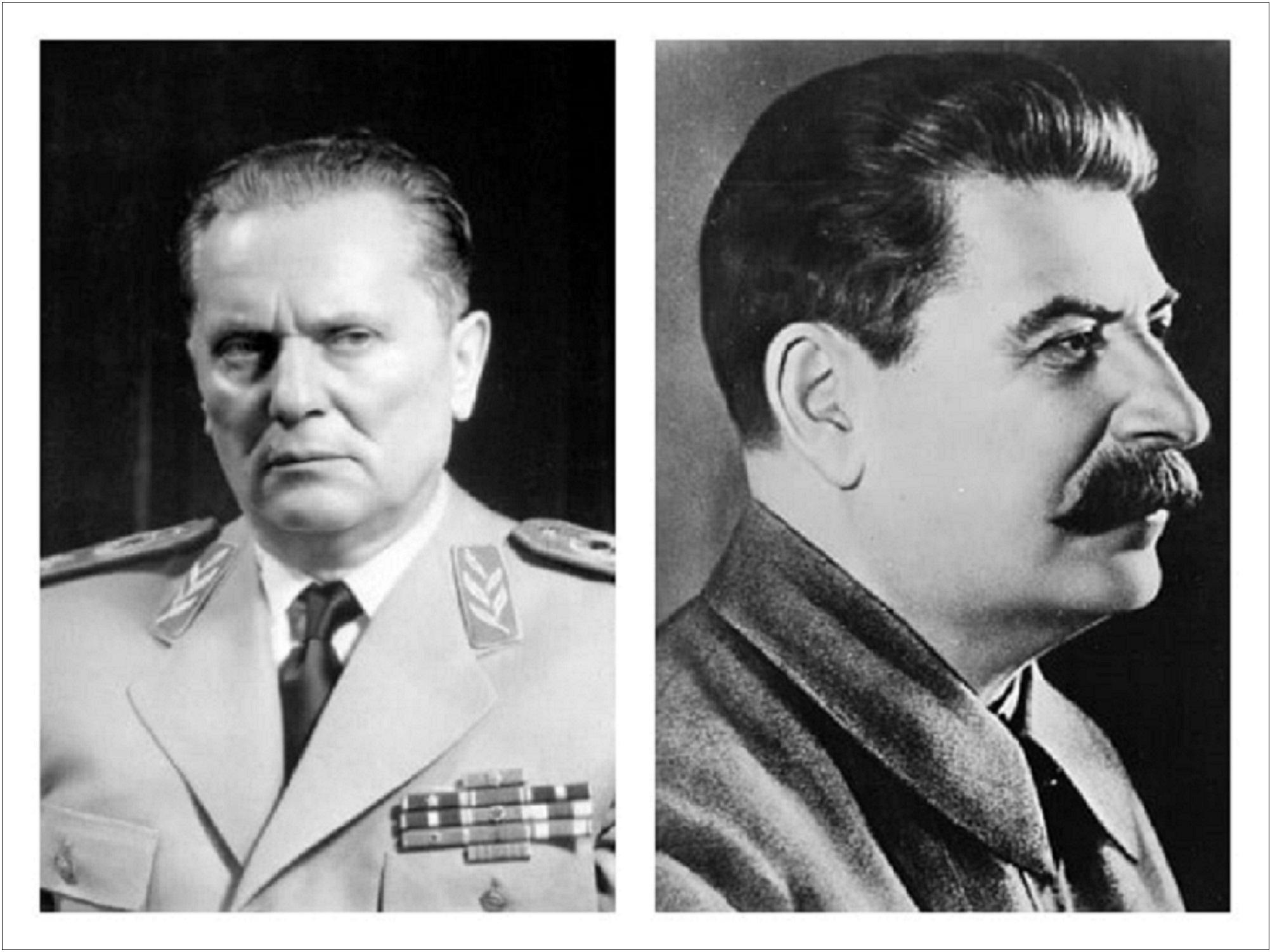 Josip Broz-Tito i Josif Visarionović Staljin- do 1948. bliski saveznici a kasnije veliki neprijatelji
