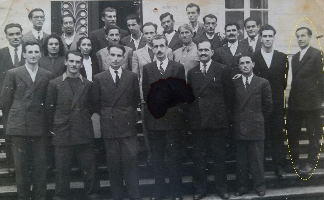 4. Komunisti iz Bijelog Polja 1947. Bajram je desno označen žutom linijom